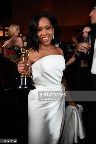 Regina King winner of the Actress in a Supporting Role award for 'If Beale Street Could Talk' attends the 91st Annual Academy Awards Governors Ball...