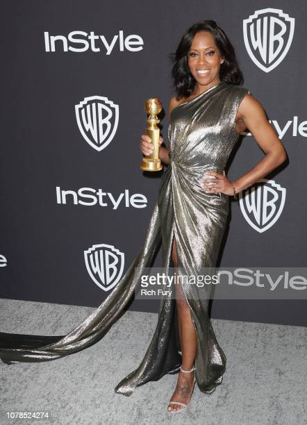 Regina King winner of the Best Actress in a Supporting Role in any Motion Picture 'If Beale Street Could Talk' award attends the InStyle And Warner...