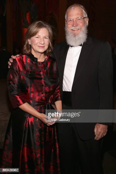 Regina Lasko and David Letterman attend The 2017 Museum Gala at American Museum of Natural History on November 30 2017 in New York City