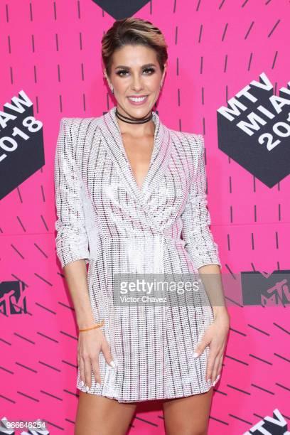 Regina Murguia attends the MTV MIAW Awards 2018 at Arena Ciudad de Mexico on June 2 2018 in Mexico City Mexico