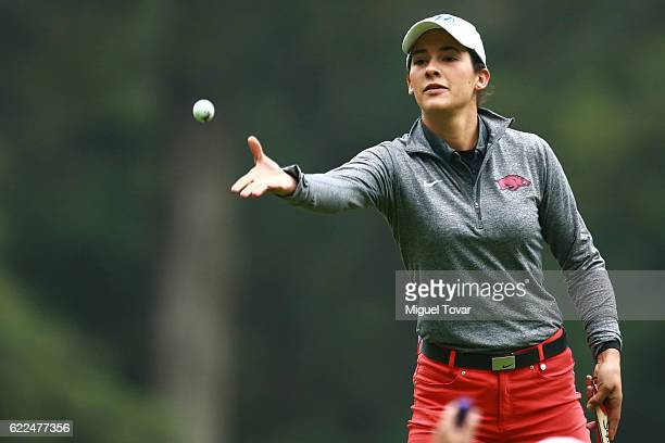Regina Plasencia of Mexico trows the ball during the Lorena Ochoa Invitational 2016 at Club de Golf on November 11 2016 in Mexico City Mexico