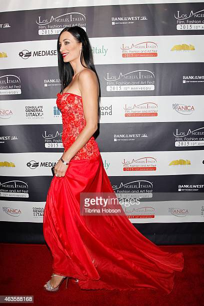 Regina Salpagarova attends the Los Angeles Italia opening gala at TCL Chinese 6 Theatres on February 15 2015 in Hollywood California