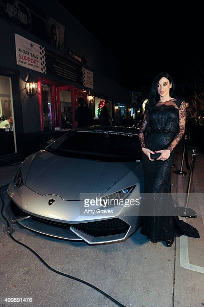 Regina Salpagarova attends the Project Divine from JGerard Peace Gallery a VIP celebrity cocktail event with black Carpet and silent auction and...