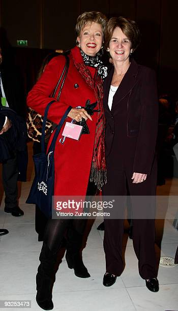 Regina Schrecker and Kathleen Kennedy Townsend attends the Science For Peace First World Conference on November 20 2009 in Milan ItalyThe aim of the...