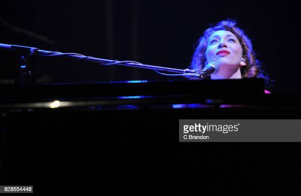 Regina Spektor performs on stage at the Eventim Apollo on August 9 2017 in London England