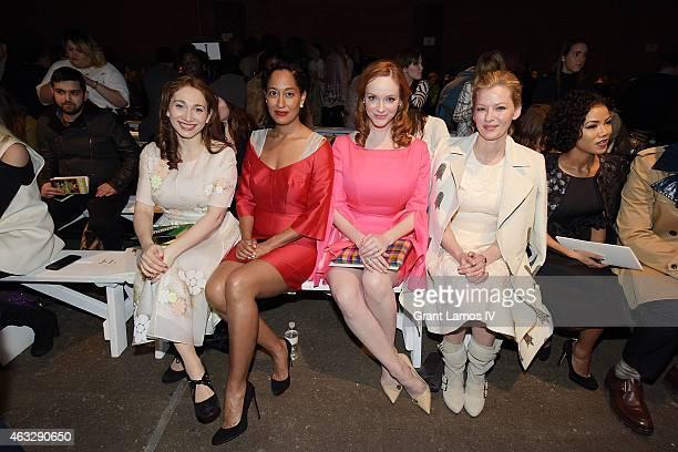 Regina Spektor, Tracee Ellis Ross, Christina Hendricks and Gretchen Mol the Honor show during Mercedes-Benz Fashion Week Fall 2015 at Art Beam on...