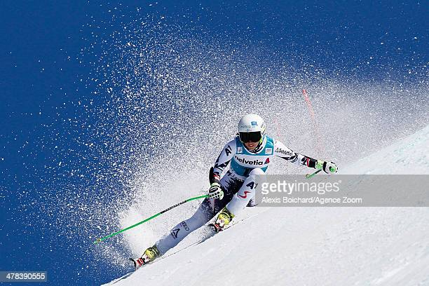 Regina Sterz of Austria competes during the Audi FIS Alpine Ski World Cup Finals Women's SuperG on March 13 2014 in Lenzerheide Switzerland