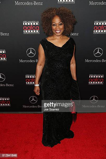 Regina Taylor arrives at the MercedesBenz and African American Film Critics Association Oscar viewing party at Four Seasons Hotel Beverly Hills on...