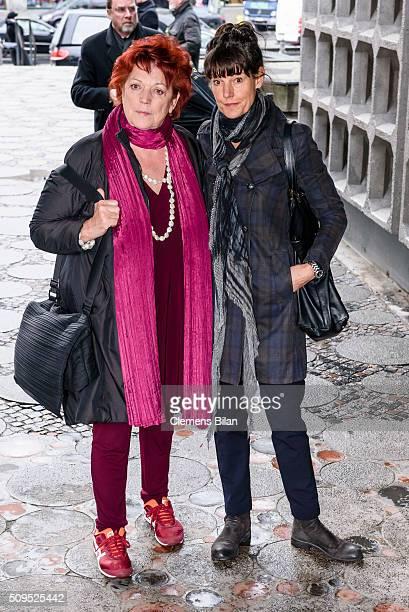 Regina Ziegler attends the Wolfgang Rademann memorial service on February 11 2016 in Berlin Germany