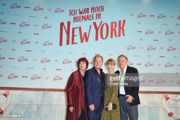 """Regina Ziegler, Uwe Ochsenknecht, Heike Makatsch and Nico Hofmann attend the world premiere of the movie """"Ich war noch niemals in New York"""" at..."""