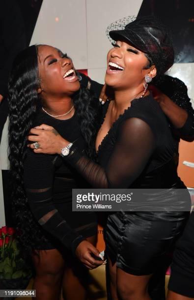 "Reginae Carter and Antonia ""Toya"" Wright attend the All Black Birthday Celebration at Gold Room on November 30, 2019 in Atlanta, Georgia."
