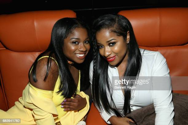Reginae Carter and Antonia Wright attend the WE tv's Growing Up Hip Hop Atlanta premiere screening event on May 16 2017 in New York City