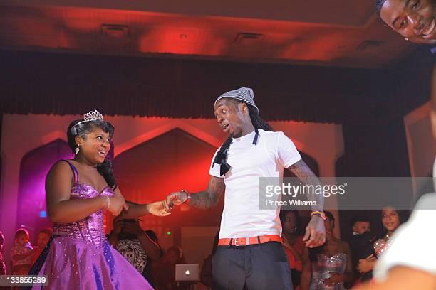 Reginae Carter and Dewayne Lil Wayne Carter attend Reginae Carter's 13th Birthday party at The Callanwolde Mansion on November 19 2011 in Atlanta...