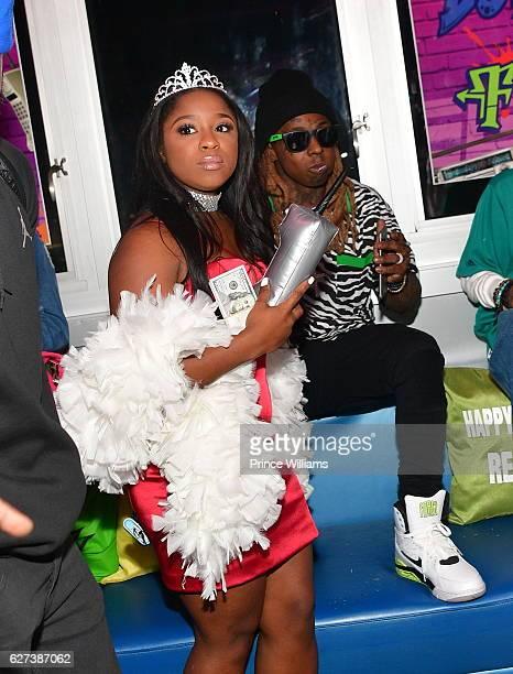 Reginae Carter and Lil Wayne attend Reginae Carters Birthday Party at Suite Lounge on December 2 2016 in Atlanta Georgia