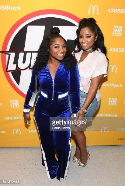 Reginae Carter and Toya Wright at 2017 LudaDay Celebrity Basketball Game at Morehouse College - Forbes Arena on September 3, 2017 in Atlanta, Georgia.