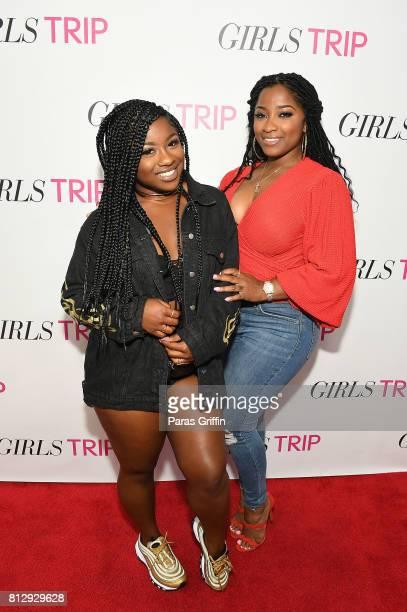 "Reginae Carter and Toya Wright at ""Girls Trip"" Atlanta special screening at SCADshow on July 11, 2017 in Atlanta, Georgia."