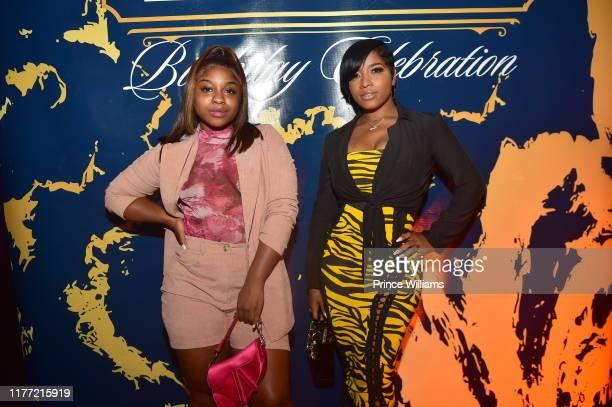 Reginae Carter and Toya Wright attend A Private Birthday Celebration Honoring TIP at The Brasserie Atlanta on September 25, 2019 in Atlanta, Georgia.