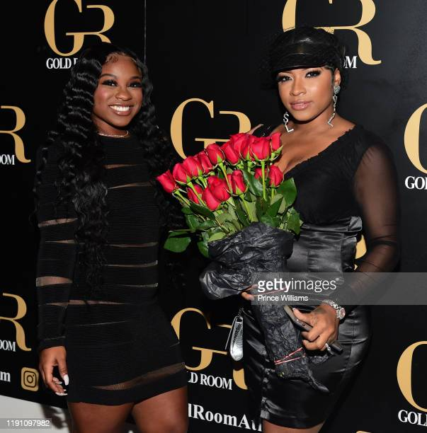 Reginae Carter and Toya Wright attend the All Black Birthday Celebration at Gold Room on November 30, 2019 in Atlanta, Georgia.