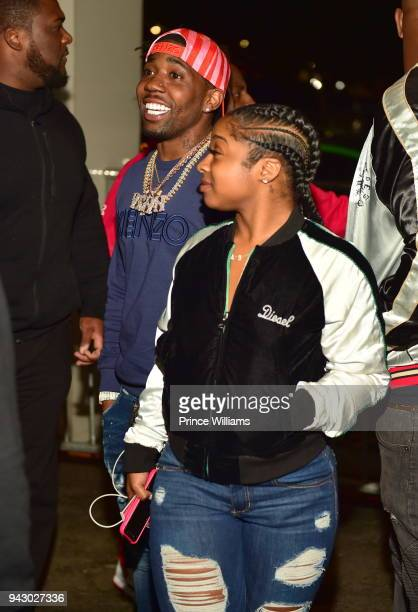 Reginae Carter and YFN Lucci attend a Party at Gold Room on April 7 2018 in Atlanta Georgia