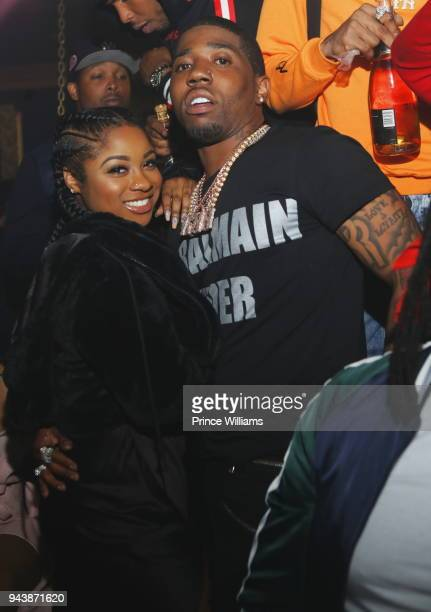 Reginae Carter and YFN Lucci attend a Party at Medusa Lounge on April 9 2018 in Atlanta Georgia