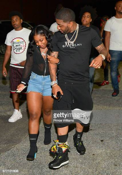 Reginae Carter and YFN Lucci attend 'Trap Holizay' Official Album Release Party at Revel on June 1 2018 in Atlanta Georgia