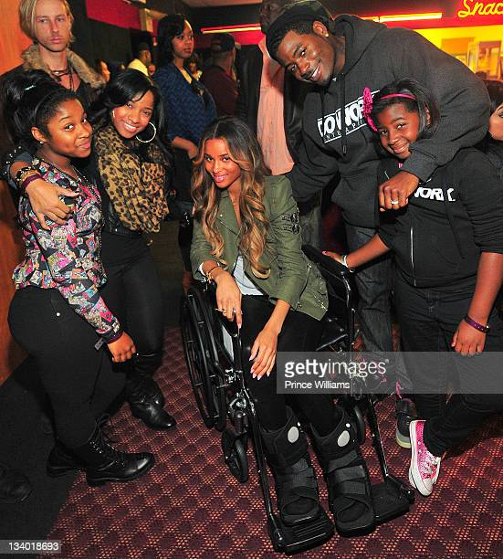 Reginae Carter, Antonia Wright, Ciara, Memphitz and Mikkya attend the 2011 Roll Over Hunger Charity and Skate Jam at the Cascade Family Skating Rink...