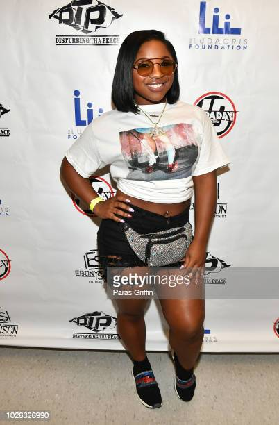 Reginae Carter attends 2018 LudaDay Celebrity Basketball Game at Morehouse College Forbes Arena on September 2 2018 in Atlanta Georgia