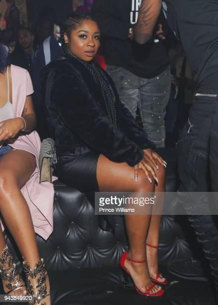Reginae Carter attends a party at Medusa Lounge on April 9 2018 in Atlanta Georgia