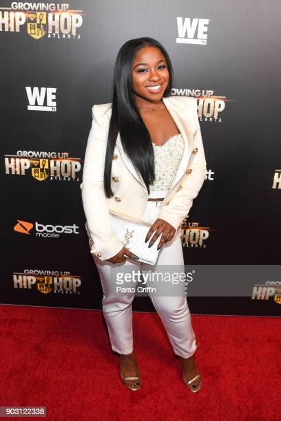 Reginae Carter attends Growing Up Hip Hop Atlanta season 2 premiere party at Woodruff Arts Center on January 9 2018 in Atlanta Georgia