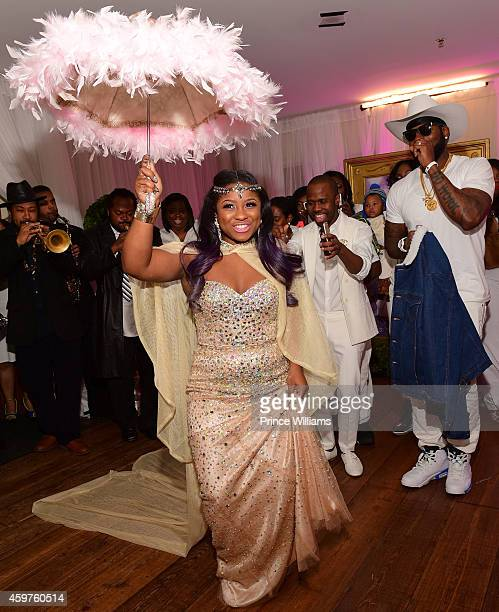 Reginae Carter attends her All White Sweet 16 birthday party at Summerour Studio on November 29 2014 in Atlanta Georgia