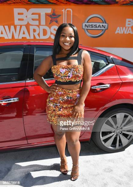 Reginae Carter attends the 2018 BET Awards at Microsoft Theater on June 24 2018 in Los Angeles California