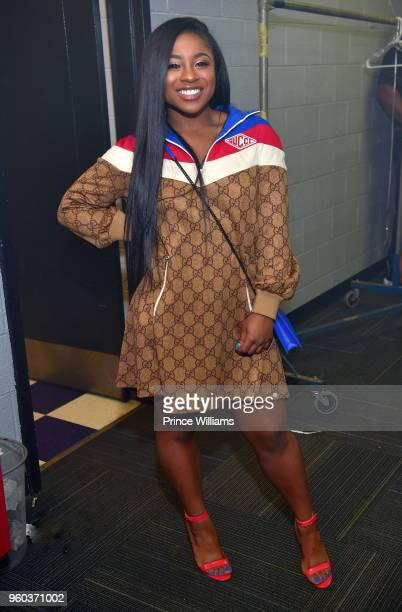Reginae Carter attends YFN Lucci In Concert at Center Stage on May 17 2018 in Atlanta Georgia