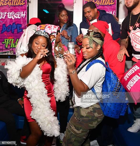 Reginae Carter Lil Wayne Antonia 'Toya' Wright on December 2 2016 in Atlanta Georgia