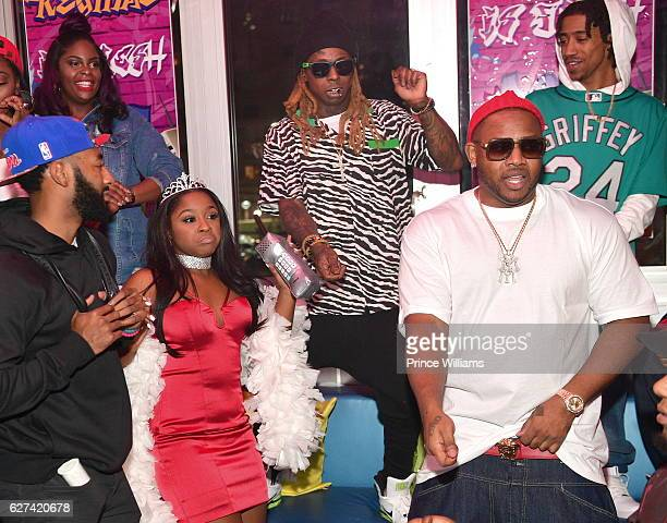 Reginae Carter Lil Wayne Mack Mane and Lil Twist attend Reginae Carters Birthday Party at Suite Lounge on December 2 2016 in Atlanta Georgia