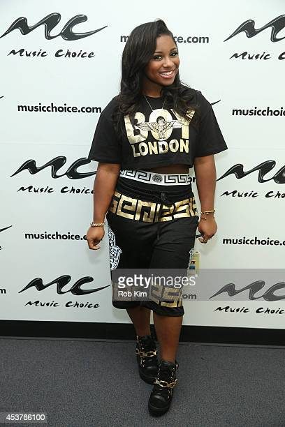 Reginae Carter visits Music Choice on August 18 2014 in New York City