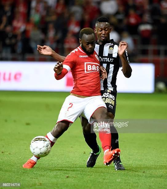 Reginal Goreux defender of Standard Liege and Baby Amara midfielder of Charleroi pictured during Jupiler Pro League match between Standard of Liege...