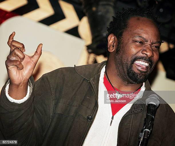 Reginald D Hunter performs at Soho club's new comedy night Just The Tonic at Madame JoJo's on April 27 2005 in London England British comics...