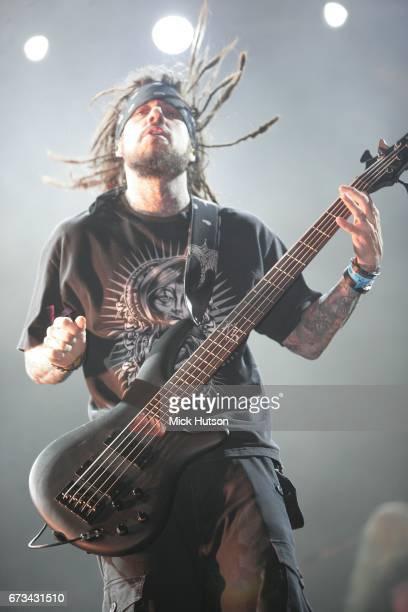 Reginald 'Fieldy' Arvizu of Korn performs in Dubai 7th March 2008