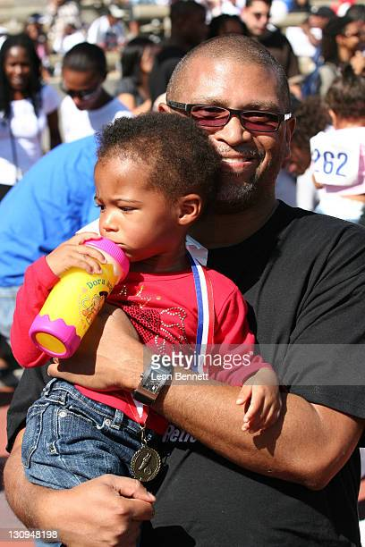 "Reginald Hudlin, BET President and daughter during B-DADS Presents 3rd Annual ""Little Legs With Big Hearts"" A Fun Run For Kids To Benefit Children..."