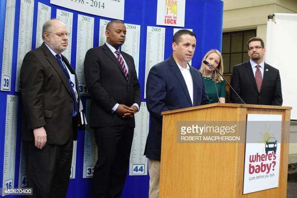 Reginald McKinnon an advocate for Safe Kids Worldwide tells how his baby daughter died inside a sweltering hot car at the launch July 24 2014 in...