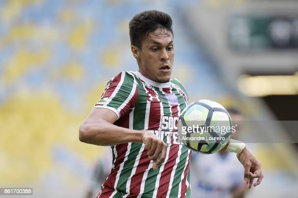 Reginaldo of Fluminense in action during the match between Fluminense and Avai as part of Brasileirao Series A 2017 at Maracana Stadium on October 15...