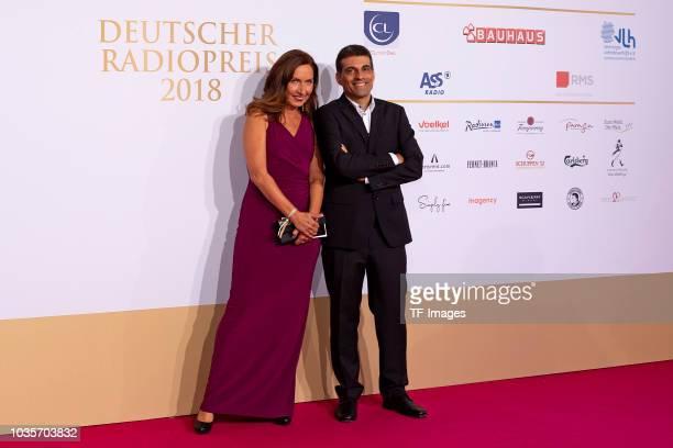 Regine Ahrem and Samir Nasr attend the Deutscher Radiopreis at Schuppen 52 on September 6 2018 in Hamburg Germany