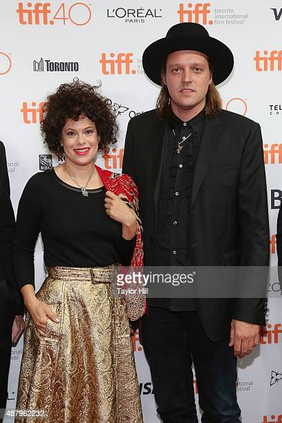 Regine Chassagne and Win Butler of Arcade Fire attend a photocall for 'The Reflektor Tapes' during the 2015 Toronto International Film Festival on...