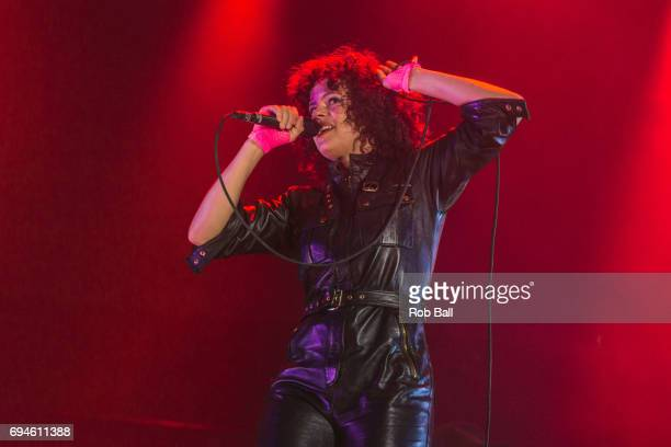 Regine Chassagne from Arcade Fire performs on day 3 of The Isle of Wight festival at Seaclose Park on June 10 2017 in Newport Isle of Wight