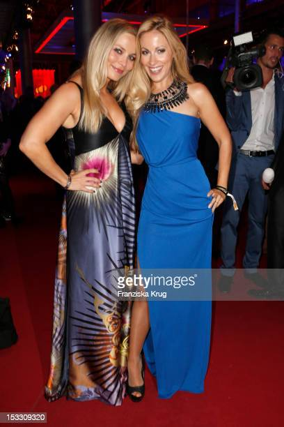 Regine Halmich and Andrea Kaiser attend the German TV Award 2012 at Coloneum on October 2 2012 in Cologne Germany