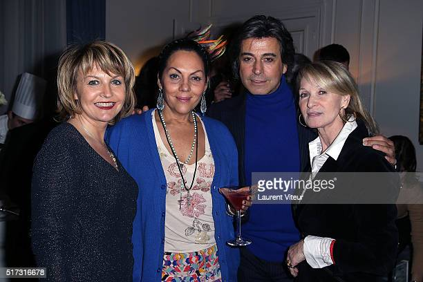 Regine Le Brun Princess Hermine de Clermont Tonnerre Hair Dresser Alexandre Zouari and Ruth Obadia attend 'Blue Angles Suite' Launch Party at Hotel...