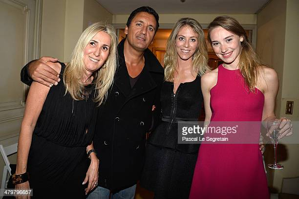Regine Mahaux Dany Brillant and his girlfriend Nathalie and Deborah Francois attend the Rivoli Party on March 20 2014 in Paris France