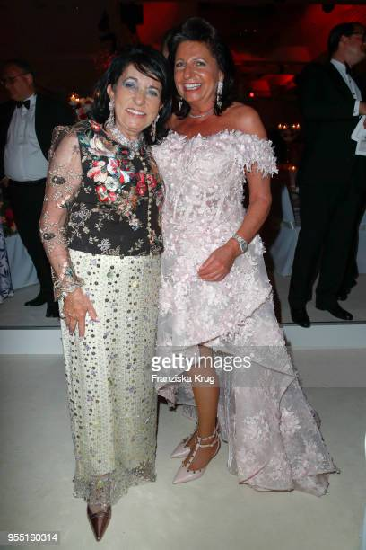 Regine Sixt and Babette Albrecht during the Rosenball charity event at Hotel Intercontinental on May 5 2018 in Berlin Germany