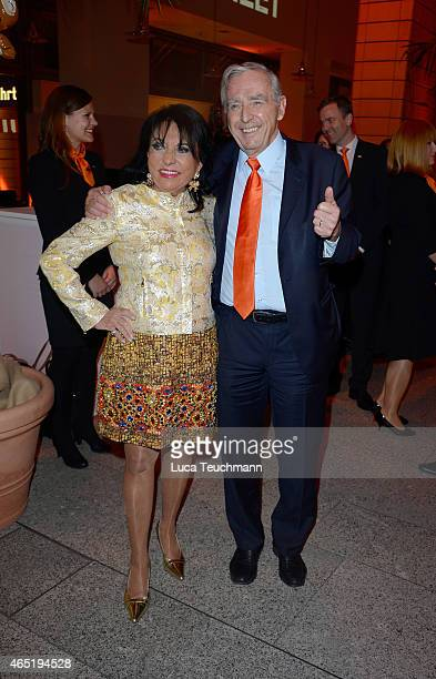 Regine Sixt and Erich Sixt attend The Night The Winners Meet Party Hosted By Sixt on March 3 2015 in Berlin Germany