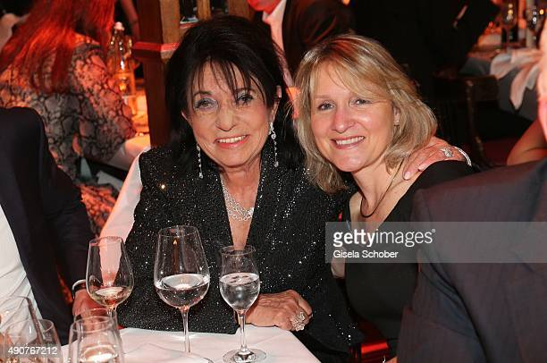 Regine Sixt and Eva Mandoki during Ralph Siegel's 70th birthday party at Schuhbeck's Teatro on September 30 2015 in Munich Germany